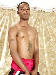 Ebony dude Julius jerks off