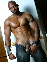 Ebony muscle hunks